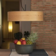 Wooden pendant lamp Bulb Attack OCHO Slim 1/S