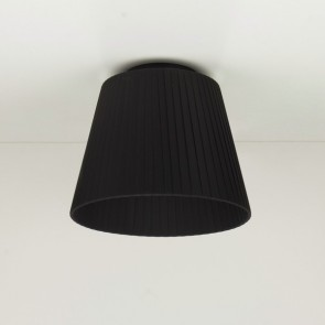 Small ceiling lamp Sotto Luce KAMI Elementary CP 1/C with textile shade - black