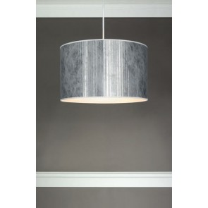 Bulb Attack TRES Plisado S1 silver cylindrical pendant lamp