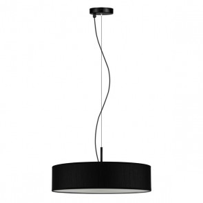 Bulb Attack Doce Slim 1/S 3-Light hanging lamp with black shade