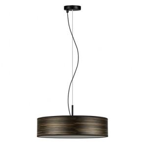 Bulb Attack Ocho Slim 1/S Wooden Pendant Lamp - Brown Striped