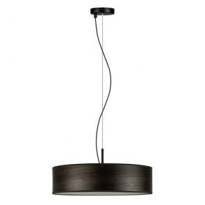 Natural wooden pendant lamp Bulb Attack Ocho Slim 1/S - Eucalyptus