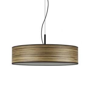 Wooden Pendant Lamp Bulb Attack OCHO Slim 1/S made of Natural Wooden Veneer
