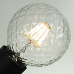 Filament Decorative LED Bulb - Globe Clear Crystal Light E27 5,5W A+ Dimmable
