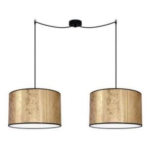 Bulb Attack TRES Plisado S2 gold pendant lamp