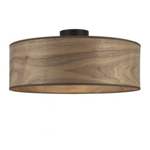Natural Wood ceiling lamp Sotto Luce TSURI CP XL ceiling lamp with natural wooden veneer shade - walnut