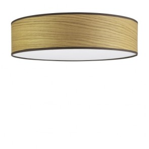 Natural wooden ceiling lamp Sotto Luce TSURI with wooden veneer shade - oak