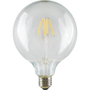 LED Filament Globe L Light Bulb E27 6,5W A+ Dimmable