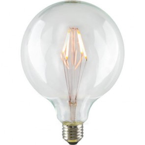 LED Filament Globe L Light Bulb E27 6,5W A+ Dimmable on