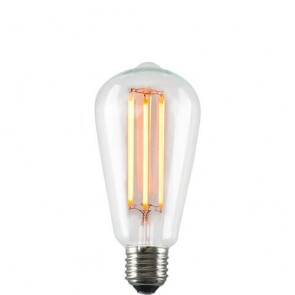 Squirrel Cage Filament Bulb - LED Dimmable Light on