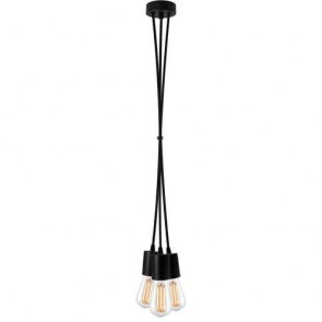 Bulb Attack CERO S3 Group pendant lamp with black metal bulb holder