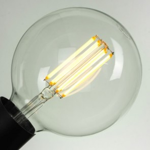 Vintage POWER LED XL Filament Light Bulb E27 8W A+ Dimmable