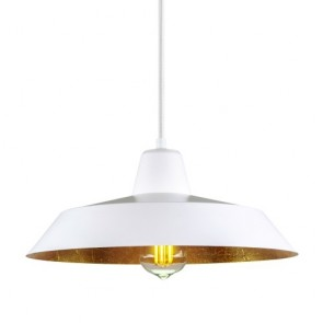 Bulb Attack Cinco S1 pendant lamp with white/copper shade and white power cable