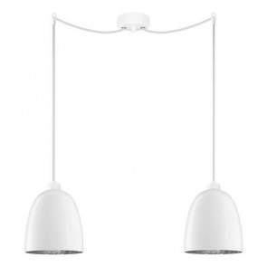 Sotto Luce Awa 2/S Elementary opal/silver hanging lamp