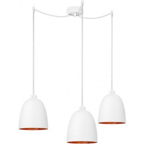 Sotto Luce Awa Elementary 3/S lamp with opal matte/copper shade