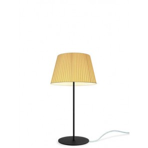 Sotto Luce KAMI Elementary M 1/T table lamp with ecru shade and black base
