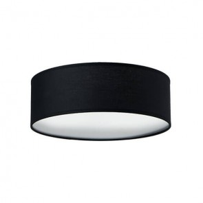 Sotto Luce Mika ceiling lamp with black shade