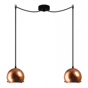 Sotto Luce MYOO Elementary 2/S ceiling light with copper lamp shade