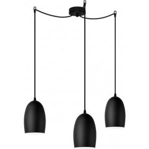 Sotto Luce UME Elementary 3/S black matte pendant lamp