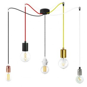 Bulb Attack S5 Spider Pendant Lamps - Cero Basic Uno Plus gold copper black silver