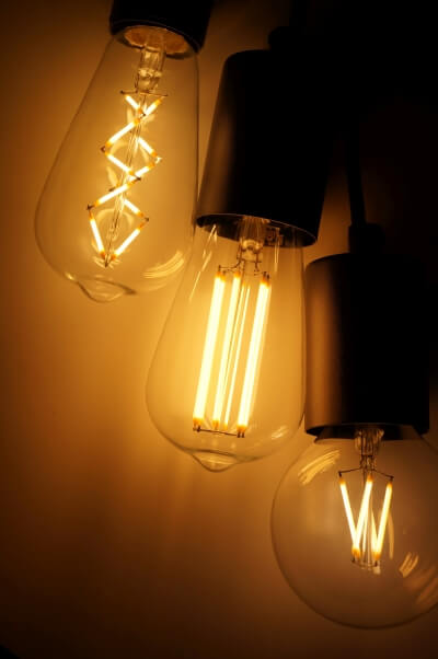 Decorative vintage LED bulbs in retro style