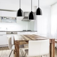 Sotto Luce Awa Elementary with black glossy lamp shade