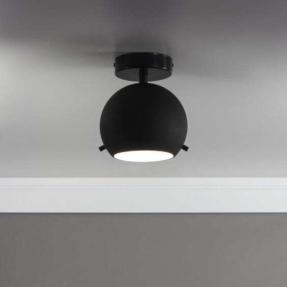 Sotto Luce Elementary Myoo ceiling lamp in black