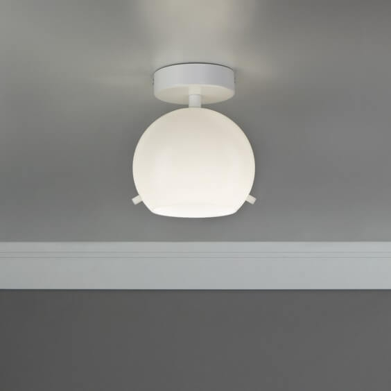 Beautiful ceiling lamp Sotto Luce Elementary Myoo opal