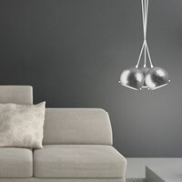 Silver ceiling lamp from Sotto Luce - Myoo Elementary 3B/S