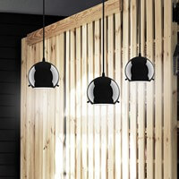 Black pendant lamp - Sotto Luce Myoo Elementary 3/S