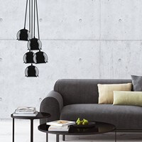Black ceiling lamp Sotto Luce Myoo Elementary