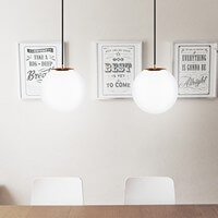 Modern ceiling lamp Sotto Luce Tsuki 2/S opal