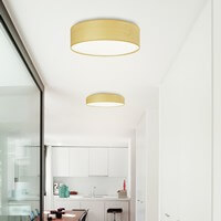Sotto Luce Tsuri ceiling light with white beech lamp shade
